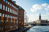 View of City Hall - Stadshuset - Street scenes from Stockholm