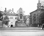 "B029. Grand Army of the Republic statue in Indiana Plaza NW Pennsylvania Ave. & 7th. ""The National Bank of Washington, Washington's Oldest Bank, 8% on Savings Accounts, 1809 – 1922"" Washington, DC, 1922"
