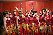 Armada Winterguard performs in the Midwest Colorguard Circuit competition in La Porte, Indiana on March 28, 2015.