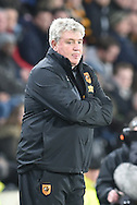 Hull City manager Steve Bruce during the Sky Bet Championship match between Hull City and Burnley at the KC Stadium, Kingston upon Hull, England on 26 December 2015. Photo by Ian Lyall.