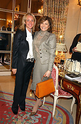 Left to right, AMANDA ELIASCH and DORIT MOUSSAIEFF wife of the President of Iceland at a ladies lunch in aid of the NSPCC held at The Ritz, Piccadilly, London on 7th March 2006.<br /><br />NON EXCLUSIVE - WORLD RIGHTS