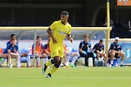 AFC Wimbledon striker Lyle Taylor (33) during the Pre-Season Friendly match between AFC Wimbledon and Reading at the Cherry Red Records Stadium, Kingston, England on 23 July 2016. Photo by Stuart Butcher.