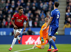 Manchester United's Marcus Rashford celebrates scoring his side's first goal of the game