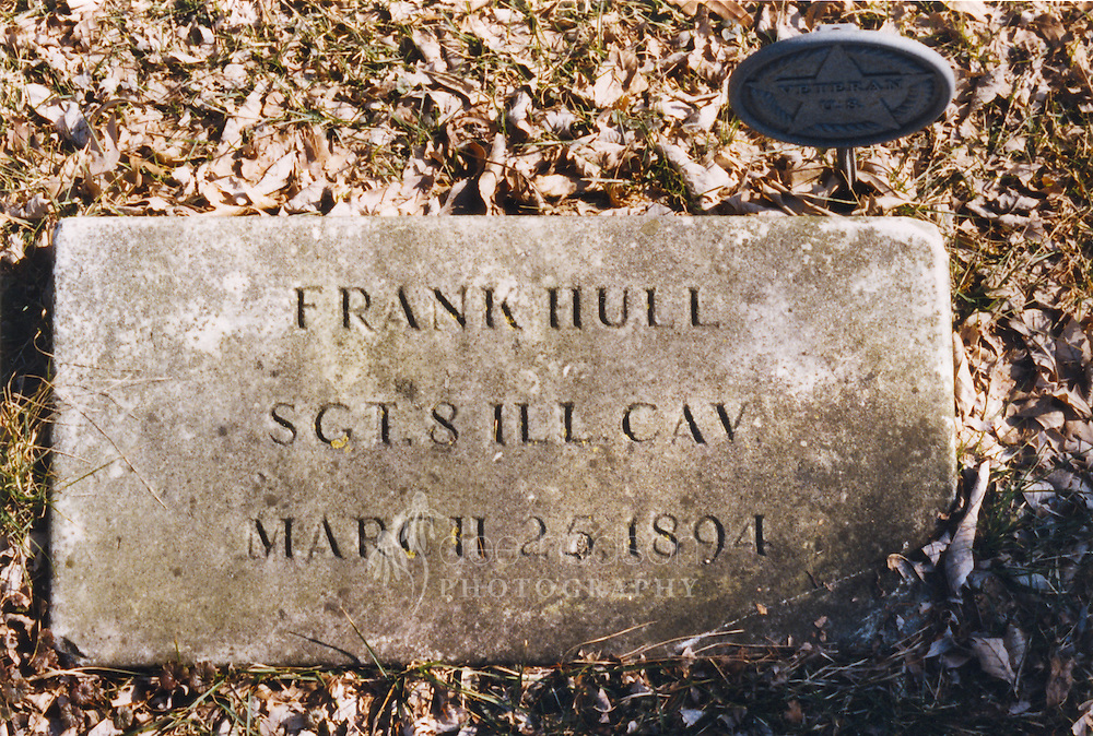 """Hull, Frank, GAR, Forest Hill Cemetery, Lot 80 Grave 3. Photo by Bob Chambers. Size: 4.5""""x6.5"""""""