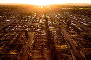 The Coffey Park neighborhood seen from a UAV above the park, Thursday, March 22, 2018, in Santa Rosa, Calif. The area was devastated by last year's Tubbs Fire.