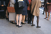 large group of business women standing around