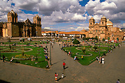 PERU, HIGHLANDS, CUZCO Cathedral and La Compania Church