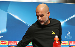 Manchester City manager Pep Guardiola during the press conference at the City Football Academy, Manchester.