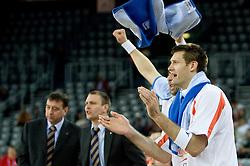 Goran Jagodnik of Hemofarm at first semifinal match of League NLB Final Four tournament  between KK Partizan Beograd and Hemofarm STADA Vrsac, on April 23, 2010, in Arena Zagreb, Zagreb, Croatia.  (Photo by Vid Ponikvar / Sportida)