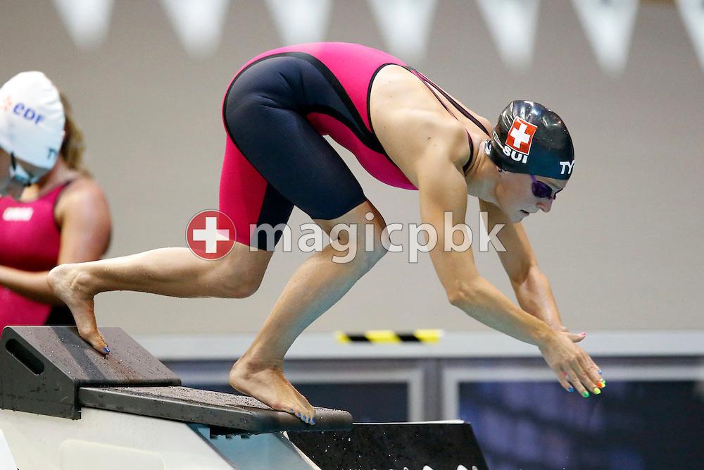 Martina VAN BERKEL of Switzerland competes in the women's 400m Individual Medley (IM) Heats during the LEN European Swimming Championships at Europa-Sportpark in Berlin, Germany, Monday, Aug. 18, 2014. (Photo by Patrick B. Kraemer / MAGICPBK)