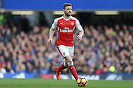 Shkodran Mustafi of Arsenal in action. Premier league match, Chelsea v Arsenal at Stamford Bridge in London on Saturday 4th February 2017.<br /> pic by John Patrick Fletcher, Andrew Orchard sports photography.