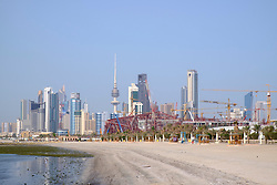 Skyline of central Kuwait City  in Kuwait