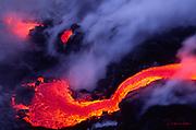 Lava into ocean, Kilauea Volcano, HVNP, Island of Hawaii