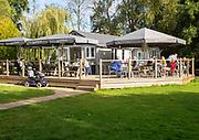 The Tea Hut cafe in Kingsman Park,  Woodbridge, Suffolk, England, UK