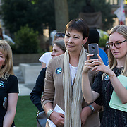 MP Caroline Lucus attended Zero Hour Children's Lobby at Parliament square, London, UK on 2021-09-08.