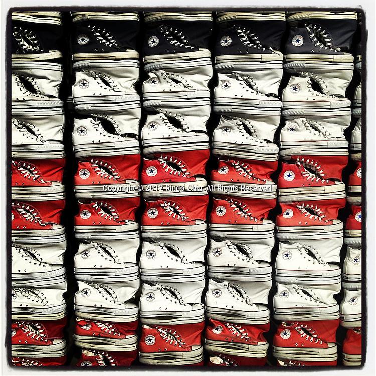 Shoes are seen at a Converse store at the Third Street Promenade in  Santa Monica, California, USA. (Photo by Ringo Chiu/PHOTOFORMULA.com).