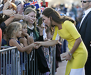 April 16, 2014 - Sydney, AUSTRALIA - <br /> <br /> Prince William and Kate, Duchess of Cambridge<br /> <br /> Britain's Kate, the Duchess of Cambridge, meets with people on the steps of the Sydney Opera House following a reception in Sydney, Australia, Wednesday, April 16, 2014. The royal couple, along with their son Prince George, are on a 10-day official visit.<br /> ©Exclusivepix