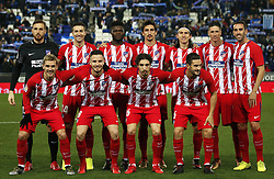 December 22, 2017 - Barcelona, Spain - Atletico team during the La Liga match between RCD Espanyol and Atletico de Madrid, in Barcelona, on December 22, 2017. Photo: Joan Valls/Urbanandsport/Nurphoto  (Credit Image: © Joan Valls/NurPhoto via ZUMA Press)