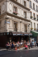 Rue Montorgueil in Paris France in May 2008