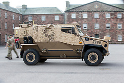 Feature on the Army's new Foxhound light mechanised infantry vehicles at Fort George army barracks, before they leave on convoy for England, before going into active service.