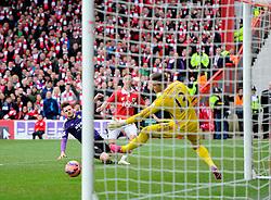 Bristol City's Joe Bryan fires narrowly wide  - Photo mandatory by-line: Joe Meredith/JMP - Mobile: 07966 386802 - 25/01/2015 - SPORT - Football - Bristol - Ashton Gate - Bristol City v West Ham United - FA Cup Fourth Round