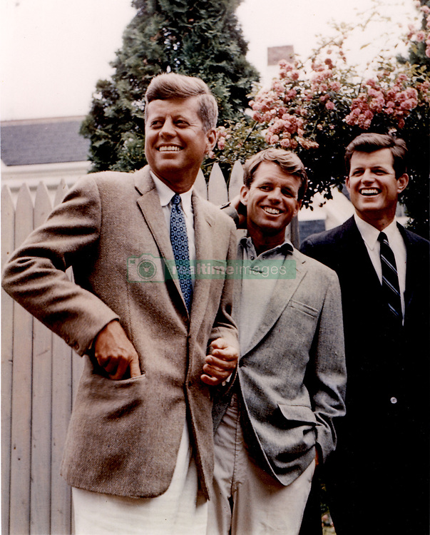 John F. Kennedy, the nation's 35th President, would have turned 100 years old on May 29, 2017. With the centennial anniversary of John F. Kennedy's birth, the former president's legacy is being celebrated across the nation. PICTURED: Washington, DC, USA; File Photo: Date Unknown; JOHN F. KENNEDY with brothers ROBERT and EDWARD. (Credit Image: © JFK Collection/JOHN F. KENNEDY LIBRARY/ZUMAPRESS.com)