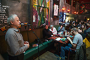 NO FEE PICTURES<br /> 30/12/15 Poet Phil Lynch at the Lingo Brunch poetry reading at the Meeting House, part of the New Years Festival in Dublin. nyf.com running from 30th Dec to 1st Jan in Dublin. Picture: Arthur Carron