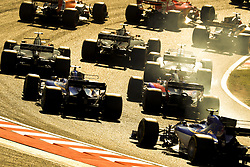 October 8, 2017 - Suzuka, Japan - Cars clustered close together at the start of the FIA Formula One Grand Prix of Japan. (Credit Image: © Hoch Zwei via ZUMA Wire)