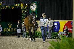 Liebherr Christina (SUI) - L.B. No Mercy<br /> Veterinary inspection<br /> World Cup Final Las Vegas<br /> Photo © Dirk Caremans