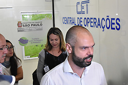 November 21, 2018 - SãO Paulo, Brazil - SÃO PAULO, SP - 21.11.2018: BRUNO COVAS NA CET - The mayor of São Paulo, Bruno Covas, followed the transit of the return of the holiday, and the traffic in the region where the viaduct fell in Marginal Pinheiros, in the Company of Traffic Engineering, (CET) this Wednesday (21) (Credit Image: © Roberto Casimiro/Fotoarena via ZUMA Press)