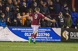 Stenhousemuir's Mark McGuigan (9) cele scoring their fourth goal. Stenhousemuir 4 v 2 Falkirk, 3rd Round of the William Hill Scottish Cup played 24/11/2018 at Ochilview Park, Larbert.