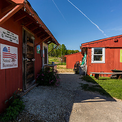 Outside the farm stand at Emery Farm in Durham, New Hampshire.