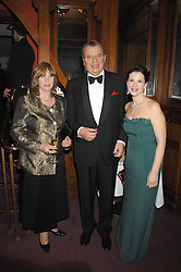 Left to right, The Russian Ambassador to the UK HE YURY FEDOTOV & MRS FEDOTOV and OLGA BALAKLEET at a gala in aid of the Raisa Gorbachev Charitable Foundation in honour of the late Russian dancer Maris Liepa held at The London Coliseum, London on 24th February 2008.<br />