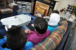 Syrian refugees, rescued by the UN and now living in Bradford.