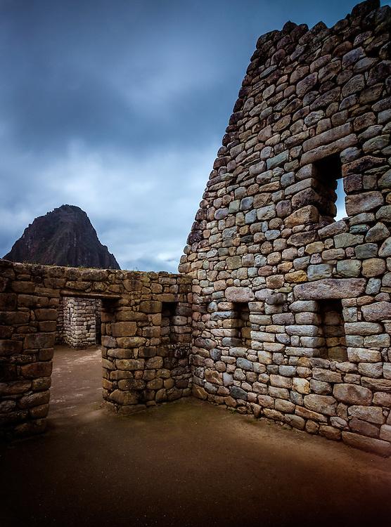 MACHU PICCHU, PERU - CIRCA OCTOBER 2015:  Ruins of Machu Picchu in Peru