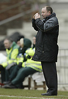 Photo: Aidan Ellis.<br /> Rotherham United v Bristol City. Coca Cola League 1. 25/03/2006.<br /> City's manager cant look as his team go down 3-0.