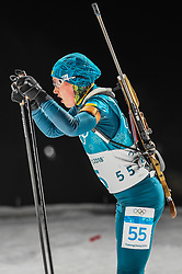 February 12, 2018 - Pyeongchang, Gangwon, South Korea - Anastasiya Merkushyna of Ukraine  competing at Women's 10km Pursuit, Biathlon, at olympics at Alpensia biathlon stadium, Pyeongchang, South Korea. on February 12, 2018. Ulrik Pedersen/Nurphoto  (Credit Image: © Ulrik Pedersen/NurPhoto via ZUMA Press)