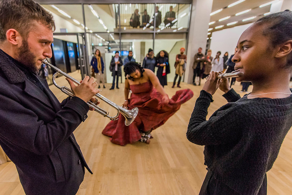 Aluminum - New York-based choreographer Rashida Bumbray (pictured red dress) collaborates with Simone Leigh on an immersive danceperformance. The performance begins in the Tanks at and proceeds through the Switch House, pausing on Level 4 around and concluding in Tate Exchange.