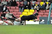 2004/05 Powergen Cup, Saracens vs Newcastle Falcons, <br /> Watford, Hertfordshire, England, UK., 19th December 2004, [Mandatory Credit: Peter Spurrier],