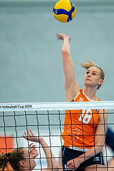 Indy Baijens of Netherlands in action during the Women's friendly match between Netherlands and Belgium at Sporthal De Basis on may 19, 2021 in Sliedrecht, Netherlands (Photo by RHF Agency/Ronald Hoogendoorn)