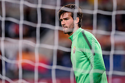 October 28, 2017 - Rome, Italy - Alisson Becker of Roma during the Serie A match between Roma and Bologna at Olympic Stadium, Roma, Italy on 28 October 2017. (Credit Image: © Giuseppe Maffia/NurPhoto via ZUMA Press)
