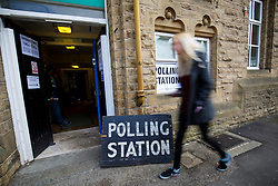 © Licensed to London News Pictures. 07/05/2015. LONDON, UK. People voting in the 2015 General Election at Springfield Primary School Polling Station in Sheffield Hallam Constituency on Thursday, 7 May 2015. Photo credit: Tolga Akmen/LNP