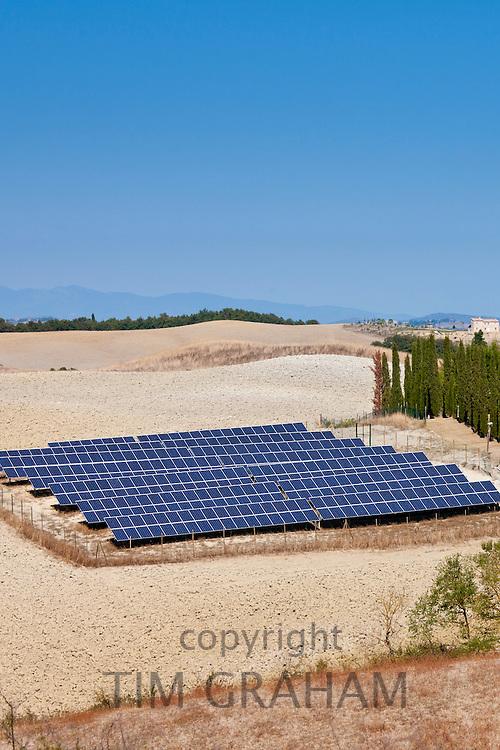 Solar panels at Murlo in Tuscany, Italy