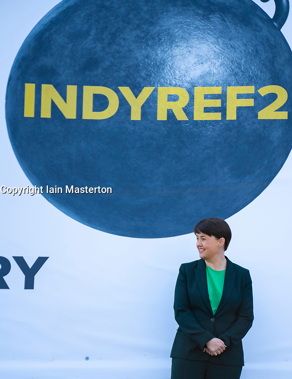 Edinburgh, Scotland, UK. 14 April 2021. Leader of Scottish Conservatives Douglas Ross and Ruth Davidson launch the Scottish Conservatives party list vote campaign with an ad van in Edinburgh today. Iain Masterton/Alamy Live News