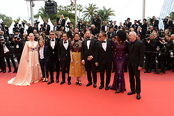 May 14, 2019 - Cannes, France - CANNES, FRANCE - MAY 14: (L-R) Jury Members Robin Campillo, Pawel Pawlikowski, Yorgos Lanthimos, Alice Rohrwacher, Enki Bilal, Maimouna N'Diaye, Kelly Reichardt, President of the Main competition jury Alejandro Gonzalez Inarritu, and Jury Member Elle Fanning, wearing Chopard jewels attend the opening ceremony and screening of ''The Dead Don't Die'' during the 72nd annual Cannes Film Festival on May 14, 2019 in Cannes, (Credit Image: © Frederick InjimbertZUMA Wire)