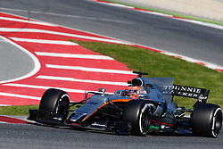March 7, 2017 - Barcelona, Cataluna, Spain - Motorsports: FIA Formula One World Championship 2017, Test in Barcelona,.Esteban Ocon (Sahara Force India F1 Team) (Credit Image: © Hoch Zwei via ZUMA Wire)