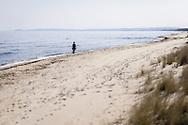 Spring time at the coastline at Yngsjö in Skåne, Sweden.