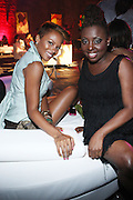 """l to r: Eva Pigford and Ledisi at """" Lincoln After Dark """" sponsored by Lincoln Motors and hosted by Idris Elba and Steve Harvey and music by Biz Markie during the 2009 Essence Music Festival and held at The Contemporary Arts Center in New Orleans on July 4, 2009"""