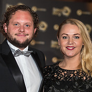 NLD/Amsterdam/20171012 - Televizier-Ring Gala 2017, Diederik Jekel en partner Patty