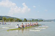 Chungju, South Korea.  GBR M8+ lane 3  move away from the start, on the second day of the 2013 FISA World Rowing Championships, Tangeum Lake International Regatta Course.14:09:05  Monday  26/08/2013 [Mandatory Credit. Peter Spurrier/Intersport Images]<br /> <br /> Crew, Bow, Dan RITCHIE, Tom RANSLEY, Alex GREGORY, Peter REED, Mo SHIBI, Andy TRIGGS HODGE, George NASH, Will SATCH and Cox Phelan HILL.